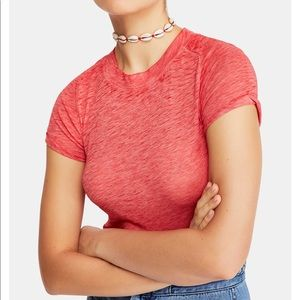 Free People crew-neck fitted T-shirt